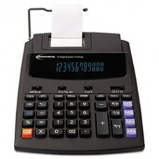 * 16000 Two-Color Roller Printing Calculator, 12-Digit Fluorescent, Blac