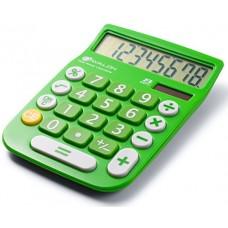 Avalon 8 Digit Dual Powered Desktop Calculator, LCD Display, Green