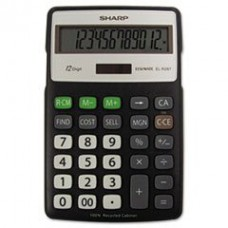 - EL-R287BBK Recycled Series Calculator w/Kickstand, 12-Digit LCD