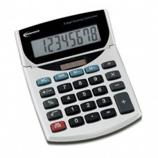 Innovera 15925 Portable Minidesk Calculator, 8-Digit LCD