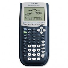 """Texas Instruments Calculator, Graphing, USB Cable,3-1/3""""x7-1/2""""x9/10"""", Black (TI-84 PLUS)"""