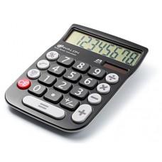 Avalon 8 Digit Dual Powered Desktop Calculator, LCD Display, Black