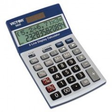 - 9800 2-Line Easy Check Display Calculator, 12-Digit, LCD