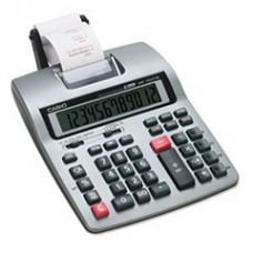 * HR-150TM Two-Color Printing Calculator, 12-Digit LCD, Black/Red