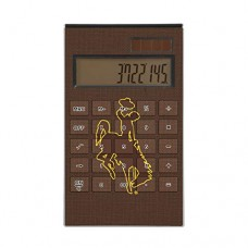 Keyscaper UW Wyoming Cowboys Solid Desktop Calculator for