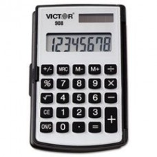 - 908 Portable Pocket/Handheld Calculator, 8-Digit LCD