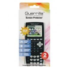 Guerrilla Military Grade Screen Protector 2- PackFor Texas Instruments TI 84 Plus C Silver Edition Color Graphing Calculator