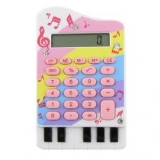 Piano Design 8 Digits Pink Silicone Keypad Electronic Calculator