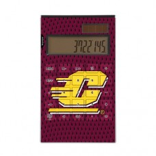 Central Michigan Chippewas Desktop Calculator officially licensed by Central Michigan University Full Size Large Button Solar by keyscaper®