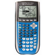 Texas Instruments TI-84 Plus Silver Edition Graphing Calculator - Bright Blue