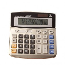 FUYUFU Calculator 12-Digit Desktop Calculator Standard Function Dual Power Calculator Solar And AA Batteries (Without AA Batteries) (DS-5500)