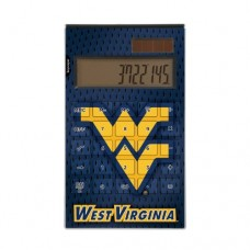 West Virginia Mountaineers Desktop Calculator officially licensed by West Virginia University Full Size Large Button Solar by keyscaper®
