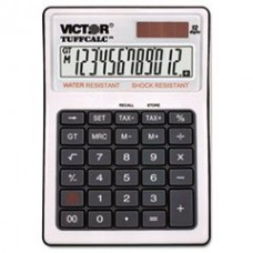 - TUFFCALC Desktop Calculator, 12-Digit LCD