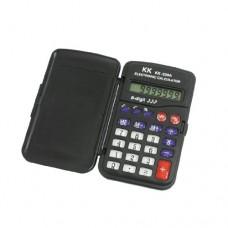 Black Plastic LCD Keypad Folding Lid Cover 8 Digits Electronic Calculator