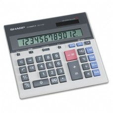 "Sharp 12-Dgt Desktop Calculator,Dual Power,7-1/2""x6-7/8""x2-2/3"",GY"