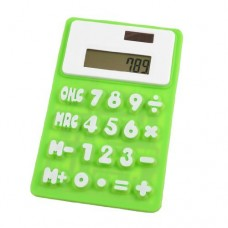 Dimart Green White 8 Digits Refrigerator Magnetic Silicone Foldable Calculator