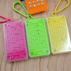 FineInno Children Calculator Mini Pocket Computing Counter Small Keychain with Puzzle Game LCD Screen Display for Kids Cute School Gift (Maze)
