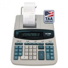 - 1776 TAA Compliant Ribbon Printing Calculator,12-Digit, Fluorescent