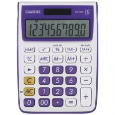 Casio MS-10VC Standard Function Calculator, Purple