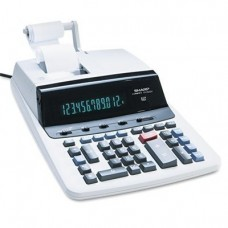 VX2652H Two-Color Printing Calculator, 12-Digit Fluorescent, Black/Red