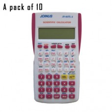 Pack of 10, JOINUS JS-82TL-2 10 Digit And 2-Line Scientific Calculator-White