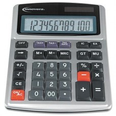 3 Pack 15971 Large Digit Commercial Calculator, 12-Digit LCD, Dual Power, Silver by INNOVERA (Catalog Category: Office Equipment & Equipment Supplies / Calculators)