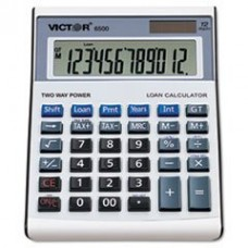 - 6500 Executive Desktop Loan Calculator, 12-Digit LCD