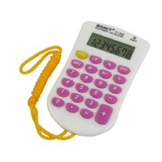 Purple White Keys 23 Rubber Keys LCD Mini Calculator w Strap