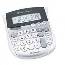 - TI-1795SV Minidesk Calculator, 8-Digit LCD