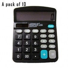 Pack of 10, JOINUS JS-837 Dual Power 12 Digit Calculator