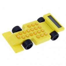 8 Digits Display Race Car Yellow Orange Calculator