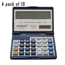 Pack of 10, JOINUS JS-756 Dual Power 14 Digit Calculator