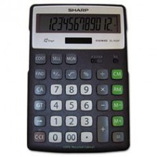 Sharp ELR297BBK 12 Digit Green Portable Desktop - Sharp OEM Calculators