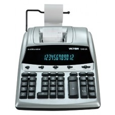 Victor® 1240-3A Antimicrobial Desktop Calculator, 12-Digit Fluorescent, 2-Color Printing