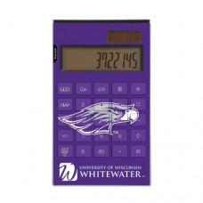 Wisconsin Whitewater Desktop Calculator officially licensed by the University of Wisconsin Whitewater Full Size Large Button Solar by keyscaper®