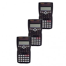 Pack of 3, JOINUS JS-82MS-A 10 Digit And 2-Line Scientific Calculator