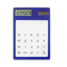 Blue Clear Solar Powered 8 Digits Plastic Calculator
