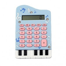 Dimart Silicone Keypad Piano Shape 8 Digits LCD Display Calculator, Baby Blue