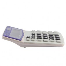 Eagle Desktop Calculator,12-Digit Solar Battery Basic Calculator, with Large LCD Display