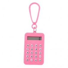 Dimart Plastic Pink Shell Rectangle Shaped Mini Electronic Calculator