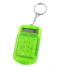 Dimart Plastic Pocket 8 Digits LCD Display Calculator, Clear Green