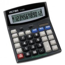 - 1190 Executive Desktop Calculator, 12-Digit LCD