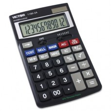 Victor 1180-3A Antimicrobial Desktop Calculator, 12-Digit LCD