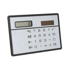 New Slim 8 Digit Mini Solar Power Pocket Calculator Counter ABS