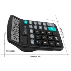 AOLVO 12 Digit Dual Power Calculators for Office/Business/Family Desk Calculator with Large Display and Large Buttons,AAA Battery
