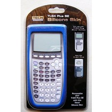 Blue Silicone Calculator Skin (Fits TI-84 Plus and TI-84 Plus SE)