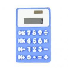 Dimart Blue White 8 Digit 20 Button Soft Silicone Flexible Calculator