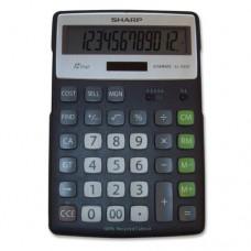 Sharp Electronics ELR297BBK 12-Digit Recycled Plastic Cabinet Calculator - Black