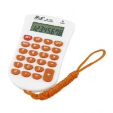 Orange Lanyard 8 Digit 23 Rubber Keys Calculator for Student Officer