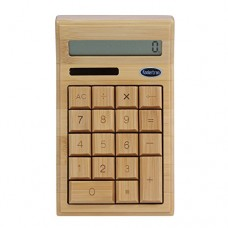 Koolertron 12 Digitals Solar Powered Bamboo Environmentally Friendly Calculator